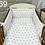 Thumbnail: 3 pcs Cot Bedding Set - White & Gray Stars