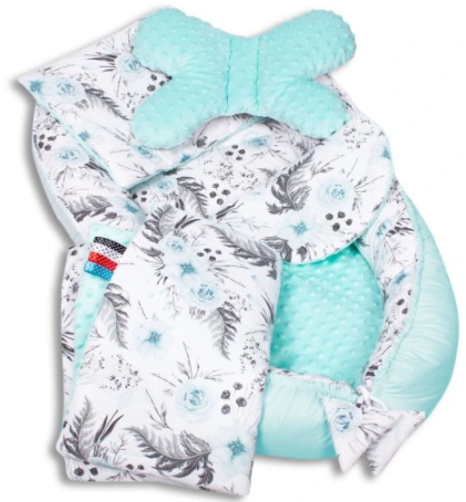 MINT GARDEN&TURQUISE Baby Nest Set - 5 Pcs