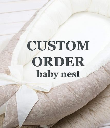 Custom order for the double sided BABY NEST- SLEEPING POD