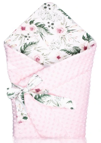 swaddle/wrap - pink garden &minky