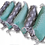 Thumbnail: PREMIUM PILLOW BUMPER MINT MINKY- GRAY WITH CLOUDS