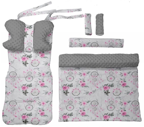 Gray minky &dreamcatcher - 6 pcs linner set
