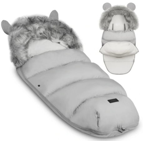 TEDDY BEAR footmuff - LIGHT GRAY
