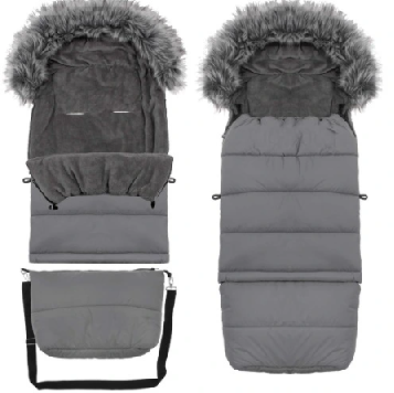 "Footmuff ""SPRINGOS"" with bag - GRAY"