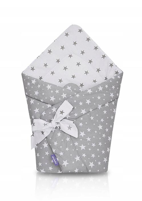 JUKKI swaddle/wrap - gray stars