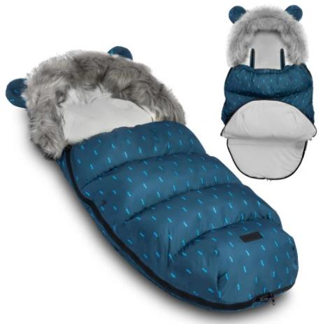 TEDDY BEAR footmuff - NAVY& MUSTACHE