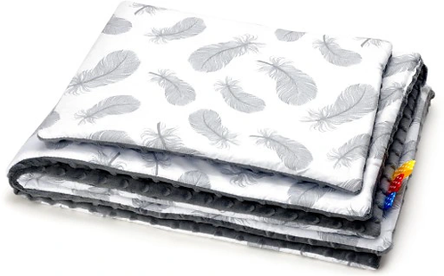 SNUGGLE MINKY BEDDING SET Sewn in filling – FEATHERS