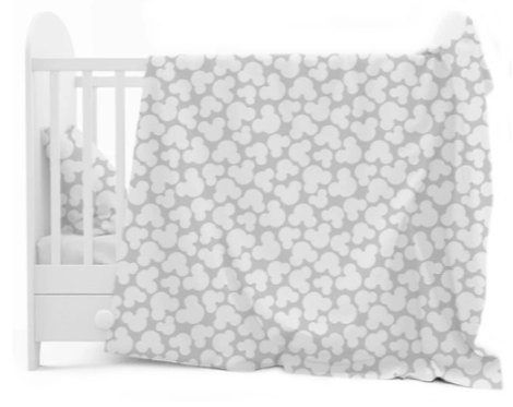 """""""GREY MICKEY MOUSE"""" Cot bedding set"""