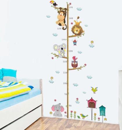 """Decowall """"Kids  Height Measurement """" wall sticker"""