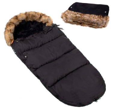 "Footmuff ""SPRINGOS"" BLACK with handmuff"