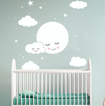 "Decowall ""Moon& clouds "" wall sticker"