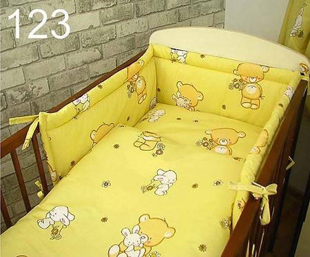 3 Pcs Cot Bedding Set- Yellow Bear
