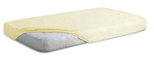 Jersey Cotton Fitted Sheet Cot Bed-CREAM