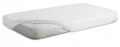 Jersey Cotton Fitted Sheet Cot Bed- WHITE