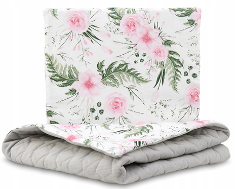 QUILTED VELVET BEDDING SET - GRAY&GARDEN