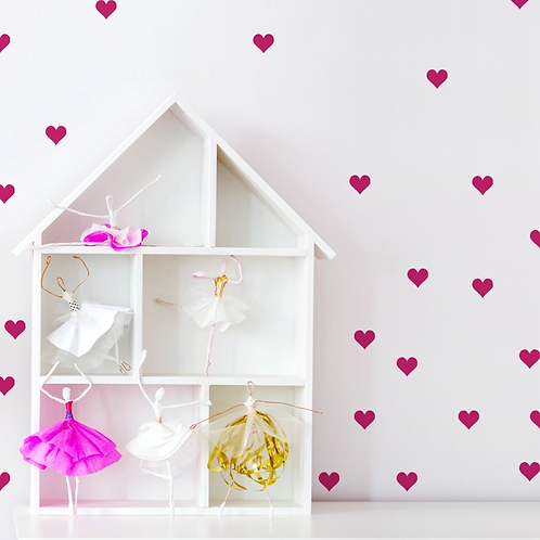 "Kopia Decowall "" Pink heart "" wall stickers"