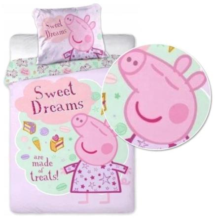 """PEPPA PIG - SWEET DREAMS""  Toddler Bedding set"