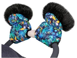 QUALI HAND MUFFS - neon tucans