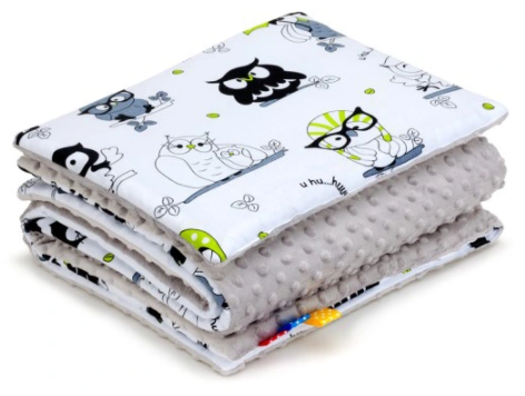 SNUGGLE MINKY BEDDING SET Sewn in filling – OWLS&GREY MINKY