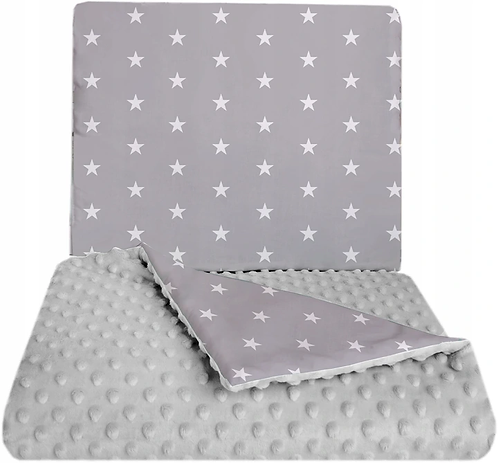 SNUGGLE MINKY BEDDING SET Sewn in filling – GREY&STARS