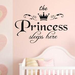 "Decowall "" Princess sleeps here"" wall sticker"