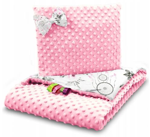 SNUGGLE MINKY BEDDING SET – PINK&DREAMCATCHERS