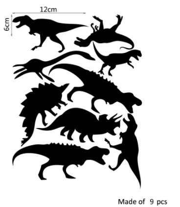 "Decowall "" Black Dinosaurs"" wall stickers"