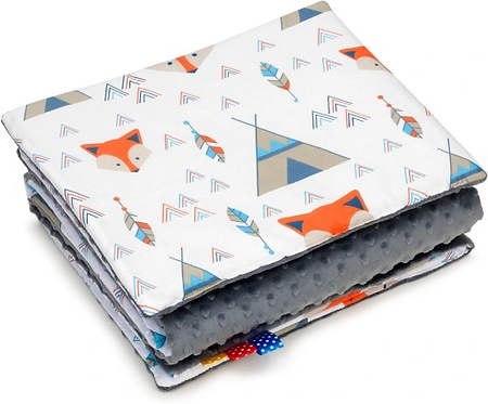SNUGGLE MINKY BEDDING SET Sewn in filling – FOX