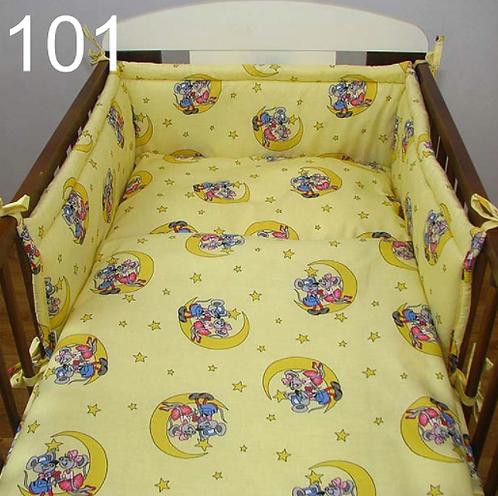 3 Pcs Cot Bedding Set- Mouse In Love