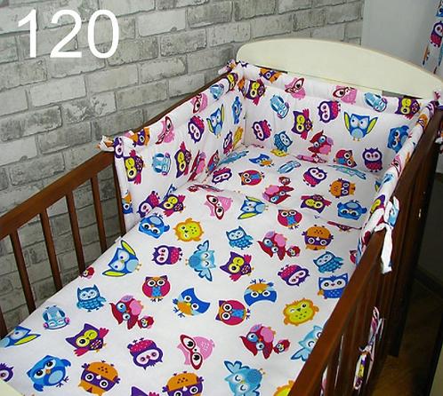 3 Pcs Cot Bedding Set- Owls Girls Edition