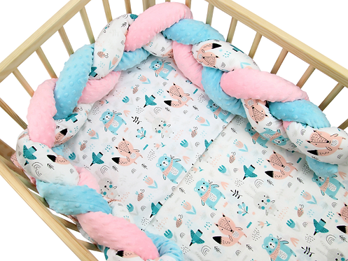 Bedding Set & Knotted Bumper - BRIGHT BO-HO