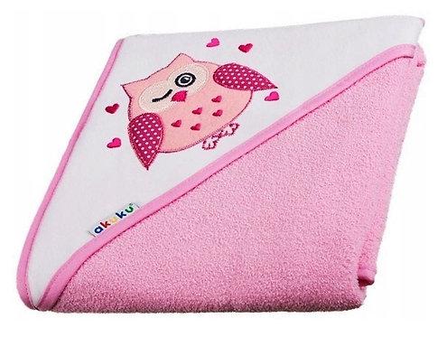 Baby towel with hoodie - Pink