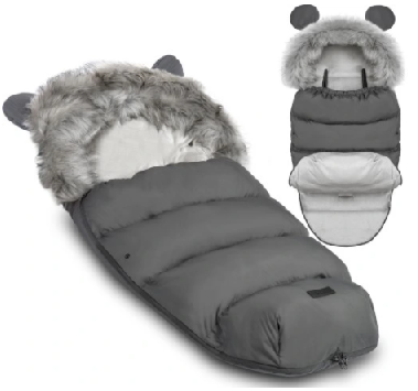 TEDDY BEAR footmuff - DARK GRAY