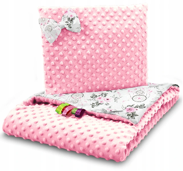 SNUGGLE MINKY BEDDING SET –PINK&DREAMCATCHER