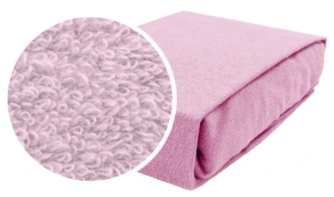 Cotton Fitted Sheet Cot Bed-PINK