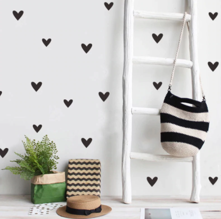 "Decowall "" Black heart "" wall stickers"