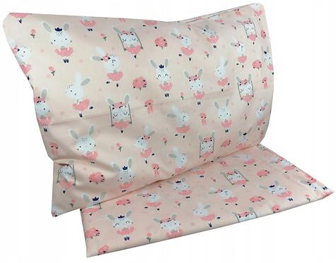 """ PINK BUNNY"" - Cot bedding set"