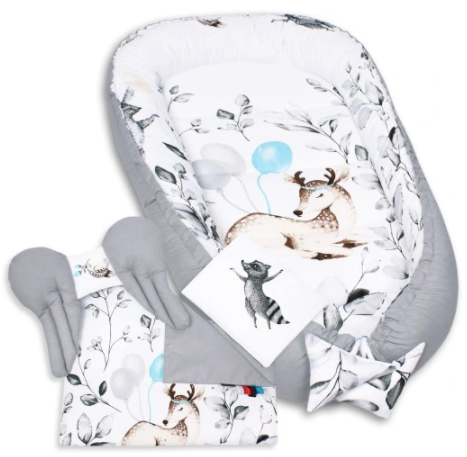 NEW EDITION GRAY Baby Nest Set - 5 Pcs