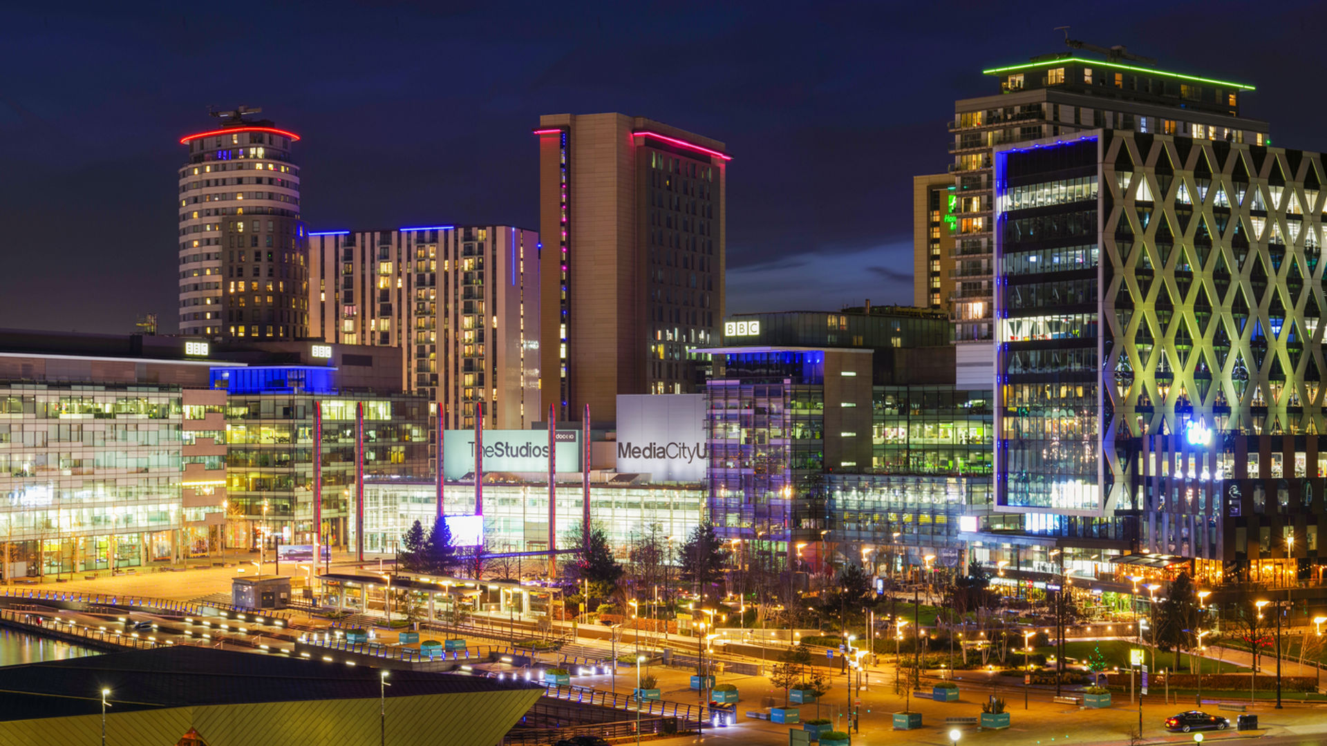 Media City At Night