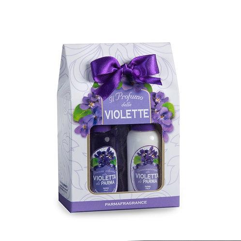 Cofanetto Mini Profumatore cassetti+Bagno+Crema Violetta Parmafragrance