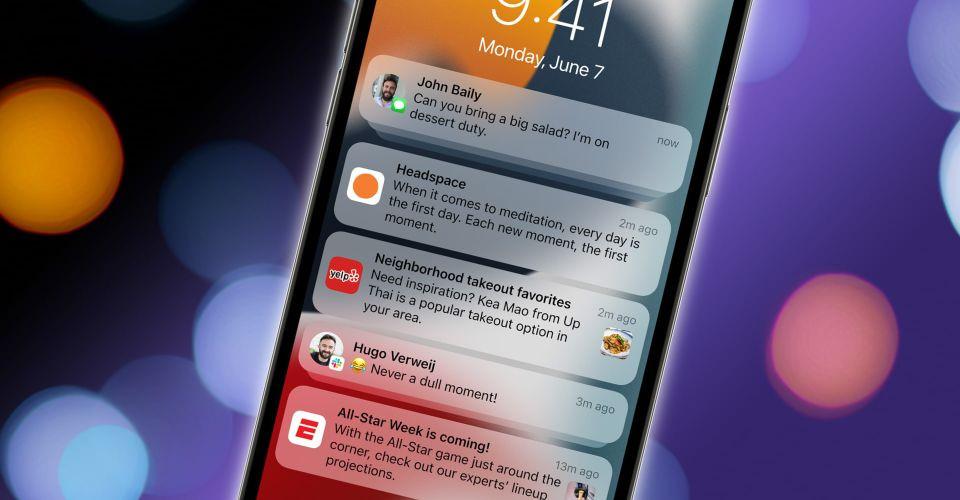 iOS 15 Notification Panel