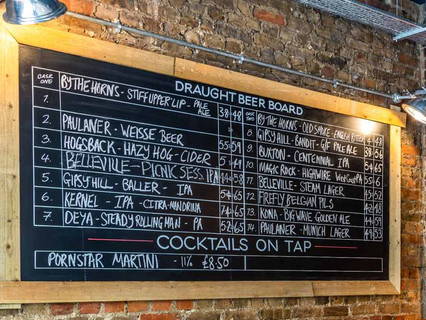 So much on tap!