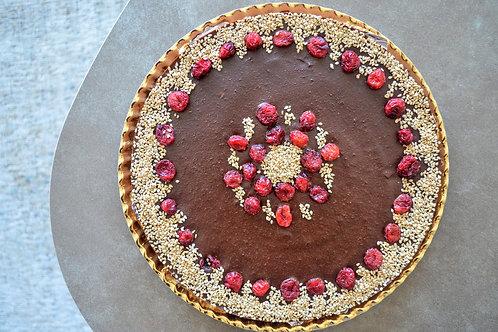 Raw Chocolate Banana Cake (Healthy!) // Tarta Sana de Chocolate y Plátano