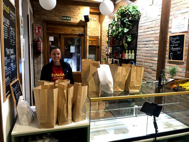 120 Mini Bagels for Spain Lacrosse Para Todos