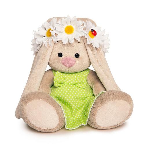 BUDI BASA   MI  baby   緑のワンピース&お花のティアラ