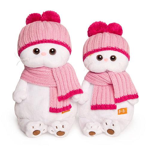 BUDI BASA  Li-li ピンクのマフラーとニット帽 エキゾチックショートヘア