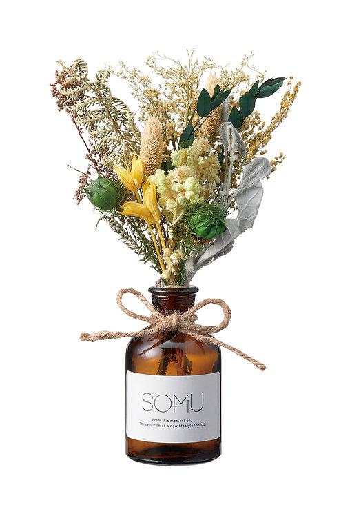 "【SOMU】Bottle  ""ウタ"" プリザーブド・ドライフラワー"