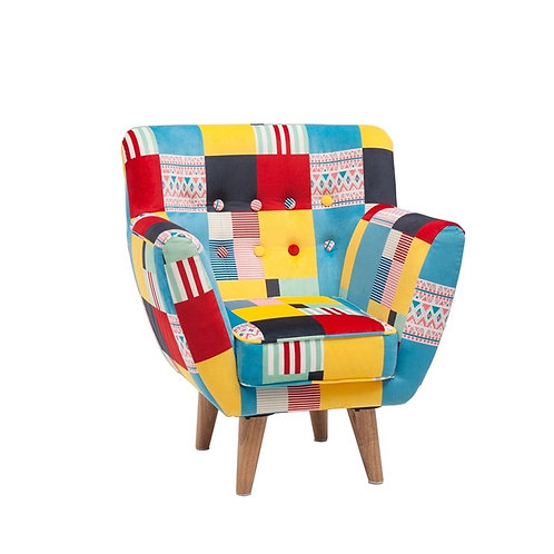 Upholstered patchwork Mini Chair