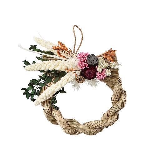 """【SOMU】nawa-wreath  """"アワ"""" プリザーブド・ドライフラワー  しめ縄"""