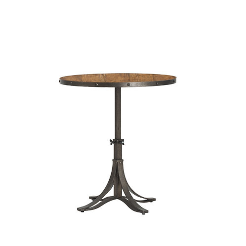 Metal & Pine Adjustable Caf Table